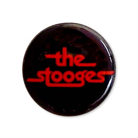 logo (ロゴ) 缶バッジ 25mm/THE STOOGES (ザ ストゥージズ)【バンドグッズ(バッジ/ピン)】